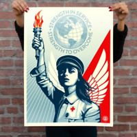 IN HAND Authentic Obey Giant ANGEL OF HOPE AND STRENGTH Screen Print Poster /550