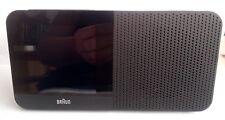 Radio-Réveil Quartz BRAUN Noir - Radio-Piloté - Interface LCD - BNC010BK-RC