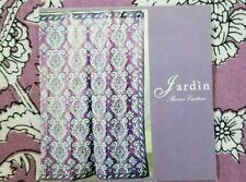 "Jardin 100% Cotton Purple,White, & Black Fabric Shower Curtain 72"" x 72"" Nip"
