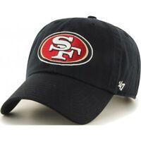 San Francisco 49ers 47 Brand Clean Up Adjustable Field Classic Black Hat Dad Cap