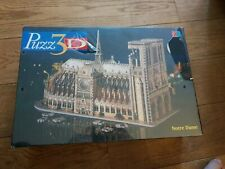 Rare Vintage MB Puzz3d Notre Dame, 952 pieces Brand New & Sealed