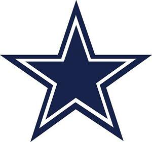 Dallas Cowboys Star Decal ~ Car / Truck Vinyl Sticker - Wall Graphics, Cornholes