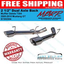 "MBRP 2005-2010 Mustang GT 2 1/2"" Dual Axle Back Muffler Delete T304 #S7202304"