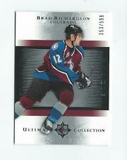 2005-06 Ultimate Collection #152 Brad Richardson RC Rookie Avalanche /599