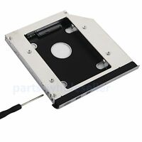 with front panel 2nd HDD SSD Hard Drive Caddy for Dell E5420 E5520 E5430 E5530
