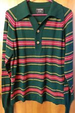 Puritan Sportswear Zebra striped L/S Shirt Vintage Christmas Sz Medium Euc