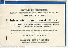 COMPAGNIA ITALIANA TURISMO Florence / Florenz/ Firenze 1935 Reise - Ticket
