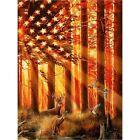 Diamond Painting DIY 5D Full Drill American Flag And Deer Art Cross Stitch Kits