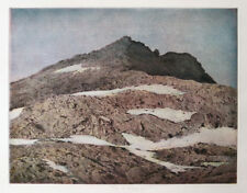 Large 1981 color etching by M. Holländer, signed, numbered