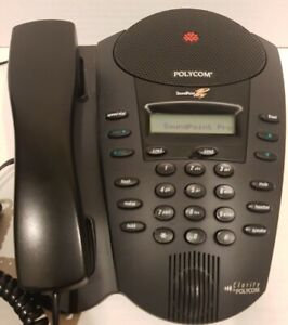 Polycom SoundPoint Pro SE-220 2 Line Conference Speaker Phone for Executive Desk