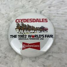 1982 Budweiser Button Worlds Fair Clydesdales Beer Tennessee 3""