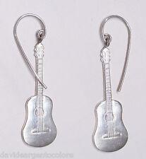 Orecchini pendenti con CHITARRA in Argento 925 - musica - musicista -