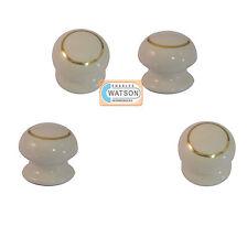 Pack 4 - 35mm blanc/doré porcelaine pommeau poignée tiroir d'armoire