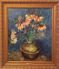 ✿Van Gogh Crown Imperial Fritillaries in a Copper Vase Oil Painting✿ Large Size