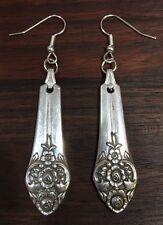 VINTAGE ANTIQUE SPOON FORK Oneida Plantation Floral Earrings Silverware Jewelry