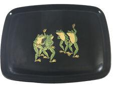 Vintage Couroc of Monterey, CA Dancing Frogs Rectangular Serving Tray