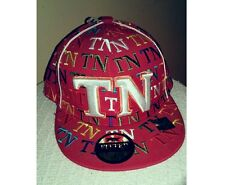 Tennessee Hat Cap Flatbill Visor Wide Brim Fitted Large Swag Dope TN Multicolor