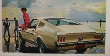 1967 FORD MUSTANG FASTBACK - CONVERTIBLE - HARDTOP ORIGINAL AD - size 8.5 X 11