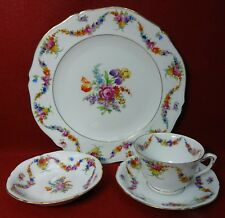 EPIAG Czechoslovakia 9954 White Grooved 4-piece Place Setting cup dinner fruit