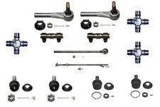13 Pc.Tie Rod Ball Joint Front Axle U Joint Kit for Ford F150 Bronco 4WD 1986-96