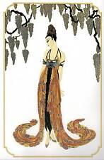 "ORIGINALE VINTAGE Erte Art Deco Print ""Piuma Abito"" FASHION BOOK Piastra"