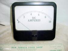Vintage Large Simpson 0 10 Amps Analog Panel Meter Ammeter