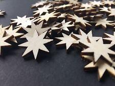 50 Streudeko Holz Tischdeko Bastelzubehör Stern Sterne Weihnachten Xmas Winter