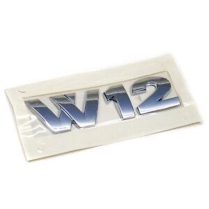 ORIGINAL VW Schriftzug Logo chrom W12 Heckklappe Touareg 7L6853675D 739