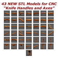 43 STL Models Knife Handles and Axes for CNC Routers 3D Printers  Artcam Aspire