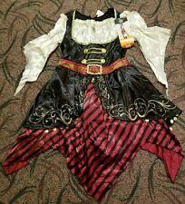 Hyde And Eek! Adult Women's Pirate Reenactment Dress Costume Halloween Sz Lg Nwt