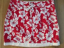 JACK WILLS RED FLORAL SHORT COTTON SKIRT SIZE 10