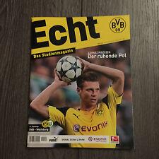 BVB@ BORUSSIA DORTMUND@Stadionmagazin ECHT@Heft Nr. 120@BVB-Wolfsburg@Piszczek