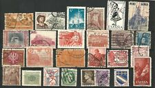 Worldwide: Lot of 55 stamps with double cancellation, some complete. Wo230