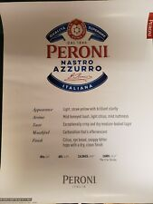 """Promotional Peroni Poster 22"""" x 28"""" NEW"""