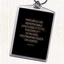 Or noir CHRISTIAN DIOR parfum Citation Sac Tag Keychain Keyring