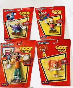 Vintage 4pk Toys Justoys Bend-Ems Bendems Disney Goof Troop ware & tear on box