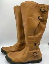 Palladium Woman Leather Caramel Boots Knee High Adjustable Size 9 (EUR 40)