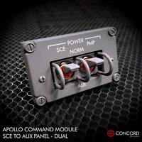 APOLLO COMMAND MODULE DUAL SWITCH PANEL - SCE TO AUX REPLICA MEMORABILIA NASA