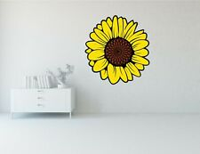 """Sunflower Flower Bright Art Decor Vinyl Decal Wall Sticker 24"""" Long"""