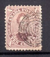 British Canada 1859 10c brown fine used SG#35 WS20900
