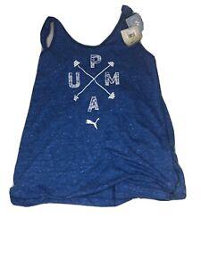 Puma Womens Essential Dri Release Athletic Tank Top Medium 515277 Lapis Blue