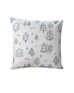 """16"""" Christmas tree Grey & White  scatter cushion covers pillow sham made in UK"""