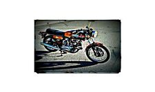 1975 Ducati 750 Gt Bike Motorcycle A4 Retro Metal Sign Aluminium