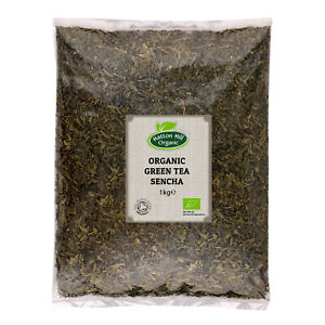Organic Green Tea Sencha Loose Leaf 1kg Certified Organic