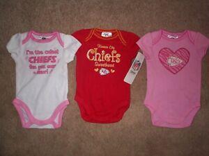 (3) Kansas City KC Chiefs nfl INFANT BABY NEWBORN Jersey Shirt 0-3M 0-3 Months