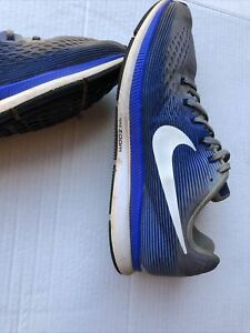 Nike Zoom Pegasus 34 Men's Size 12 D Blue And Gray