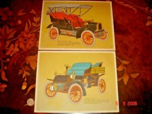 USA, Early 1970's Color Prints of Old Vintage Cars, 2 pieces