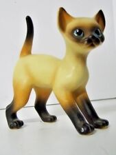 Siamese Ceramic Cat Figurine Vintage Marked Japan