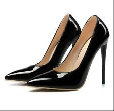 Womens Patent Leather Pumps Pointy Toe Shoes Wedding Stilettos High Heels Party