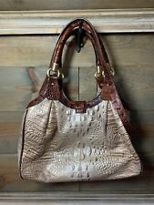 BRAHMIN Elisa Hobo Shoulder Bag Cross Body Strap Honeycomb Pecan